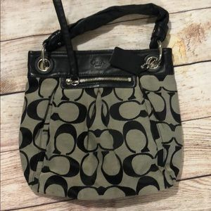 Coach Handbag - black Signature